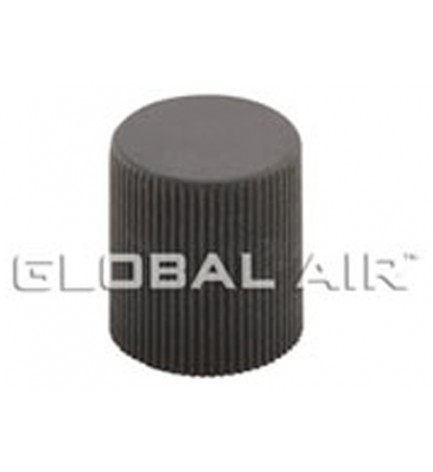 16mm Black High Side Quick Disconnect Service Valve Port Cap (Inside Thread: M10 x 0.75) R134a