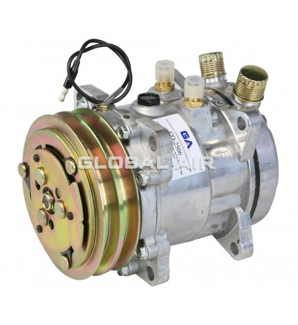505-2C New Replacement Sanden SD505 with 2 Groove Gold Color Clutch & O-ring Head Assembly