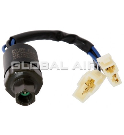 UNIVERSAL R134a FEMALE TRINARY SWITCH (with 4-WireSpadePig-Tail/2WIRE HARNESS CONNECTOR):7/16-20UNF