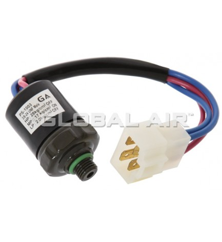 UNIVERSAL R134a MALE TRINARY SWITCH (w/4-WireSpadePig-Tail/ONE WIRE HARNESS CONNECTOR): 3/8-24 UNF