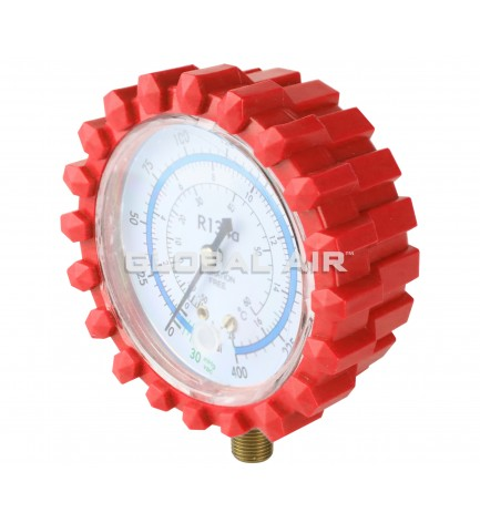 RED (High-Side) R134a Replacement Gauge For TO-1000GA Manifold (Includes Rubber Protector)