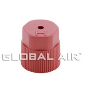 16mm Red High Side Quick Disconnect Service Valve Port Cap JRA Type (Inside Thread: M8 x 1.0) R134a