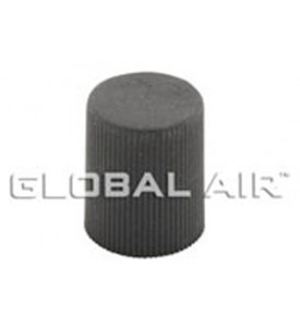13mm Black Long Low Side Quick Disconnect Service Valve Port Cap (Inside Thread: M8 x 1.0) R134a