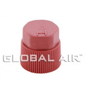 16mm Red High Side Quick Disconnect Service Valve Port Cap (Inside Thread: M10 x 1.25) R134a