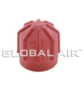 16mm Red High Side Quick Disconnect Service Valve Port Cap (Inside Thread: M10 x 1.0) R134a