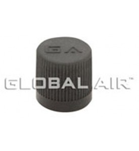 1/4 Black Plastic R12 Low Side Service Valve Port Cap