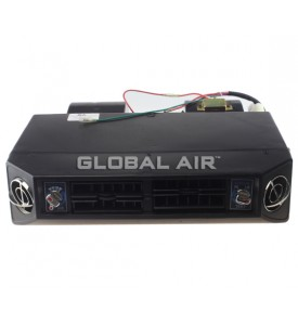 Universal Under-Dash 4 louver, BTU:13, 100, 24 Pass Aluminum Ev, Double Shaft Motor, 24V