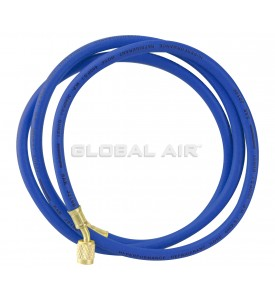 "72"" BLUE R134a Charging Hose with 1/4"" Swivel Connection and Standard Fitting"