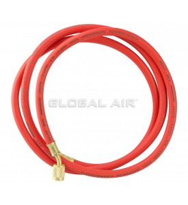 "72"" RED R134a Charging Hose with 1/4"" Swivel Connection and Standard Fitting"
