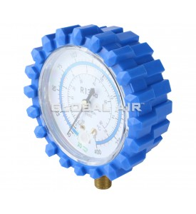 BLUE (Low-Side) R134a Replacement Gauge For TO-1000GA Manifold (Includes Rubber Protector)